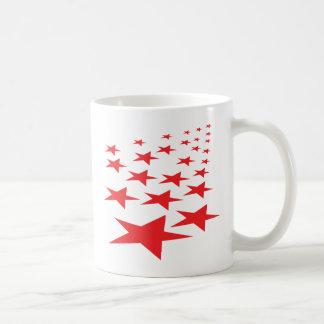 red stars carpet coffee mug