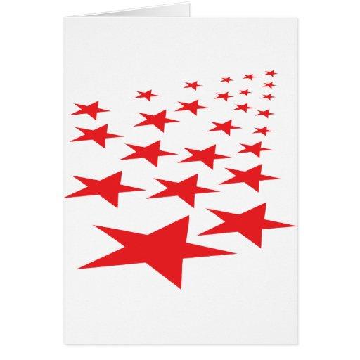 red stars carpet greeting card