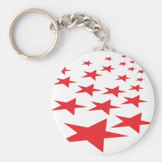 red stars carpet keychain