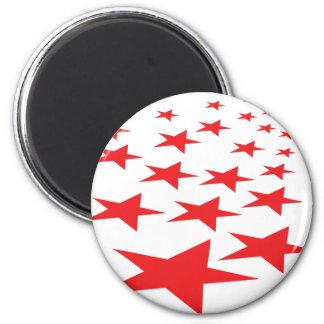 red stars carpet magnet