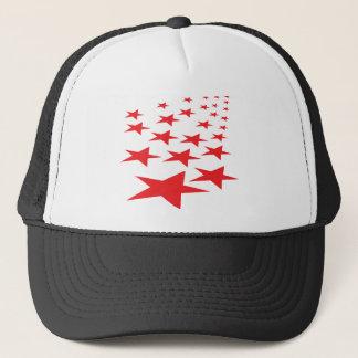 red stars carpet trucker hat