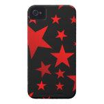 RED STARS!!! Case-Mate iPhone 4 CASE