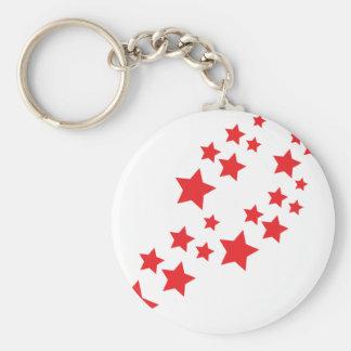 red stars falling keychain