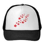 red stars falling trucker hats