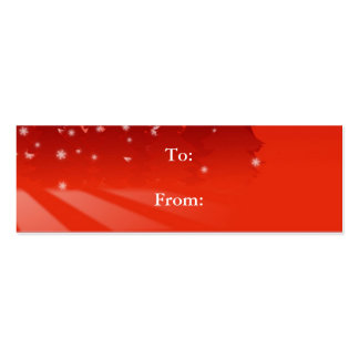 Red Stars Gift Tag Business Card