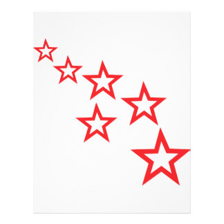 red stars icon flyer