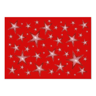 "Red Stars invitation 5"" X 7"" Invitation Card"