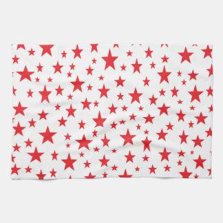 Red Stars Kitchen Towel