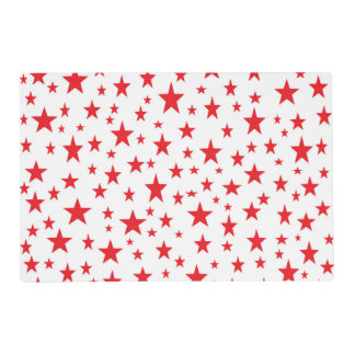 Red Stars Laminated Placemat