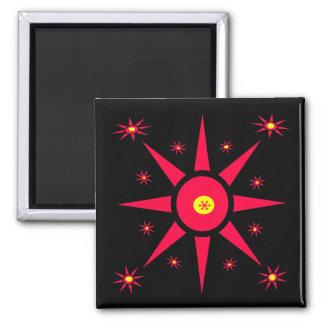 Red Stars Fridge Magnets