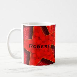 Red Stars Monogram Classic Mug