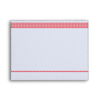 Red Stars Note Card Envelope