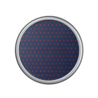 Red Stars on Patriot Blue Bluetooth Speaker