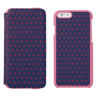 Red Stars on Patriot Blue iPhone 6/6s Wallet Case