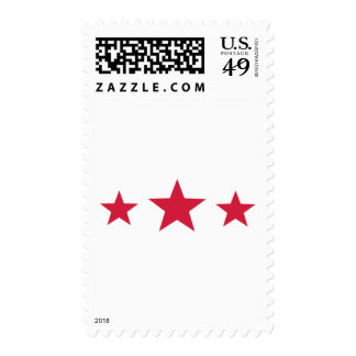 Red stars postage stamps