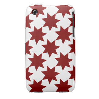 Red Stars Quilt Pattern Primitive Theme Case-Mate iPhone 3 Cases