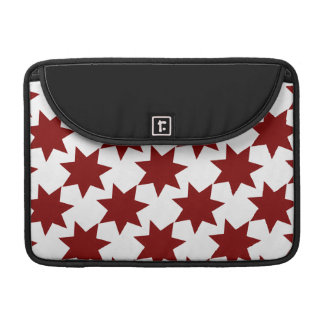 Red Stars Quilt Pattern Primitive Theme Sleeves For MacBook Pro