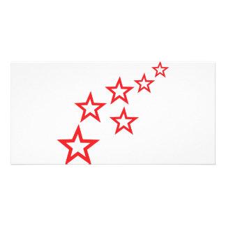 red stars rain icon card