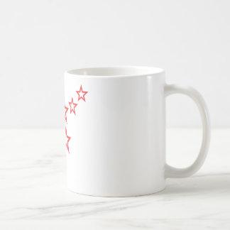red stars rain icon coffee mug