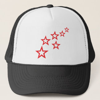 red stars rain icon trucker hat