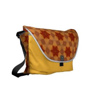 Red Stars Rickshaw Messenger Bag
