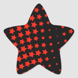 RED STARS STAR STICKER
