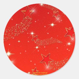 Red Stars Sticker
