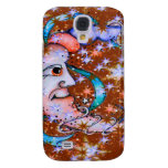 Red Stars Sun and Moon Design Samsung Galaxy S4 Cover