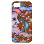 Red Stars Sun and Moon Design iPhone 5 Covers
