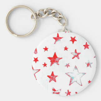Red Stars USA Key Chain