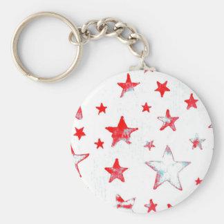 Red Stars USA Key Chain