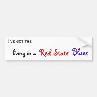 Red State blues bumper sticker - Customized