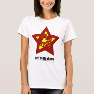 Red State Dems - Big Star (Light) T-Shirt