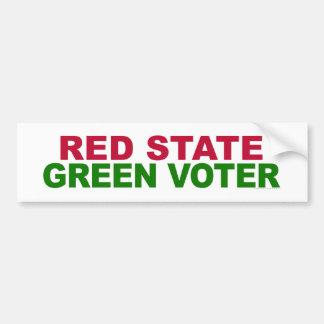 Red State, Green Voter Bumper Sticker