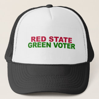 Red State, Green Voter Trucker Hat