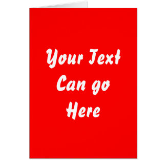 Red Stationery Note Card