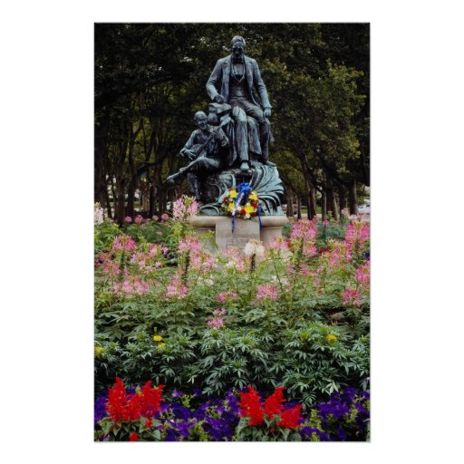 Red Statue honors Pittsburgh native Stephen Foster Posters