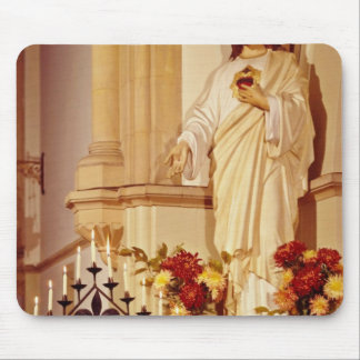Red Statue of Christ with open palm showing stigma Mouse Pad