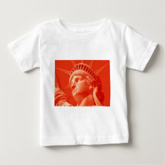 Red Statue of Liberty Baby T-Shirt