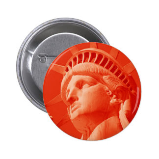 Red Statue of Liberty Buttons
