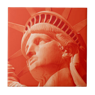 Red Statue of Liberty Ceramic Tile