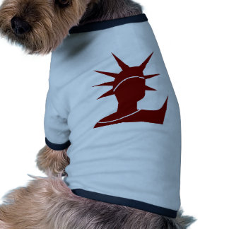 Red Statue of Liberty Icon Dog Tshirt