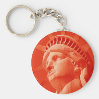 Red Statue of Liberty Keychain
