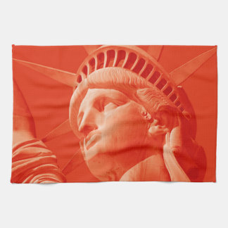 Red Statue of Liberty Towel