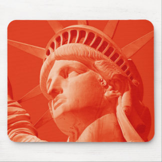 Red Statue of Liberty Mouse Pad
