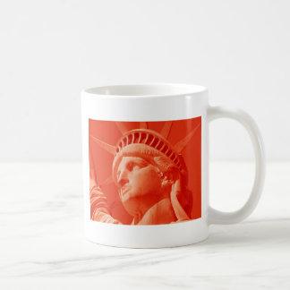 Red Statue of Liberty Classic White Coffee Mug