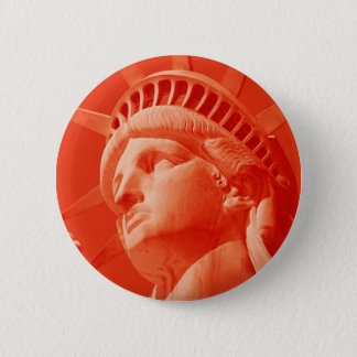 Red Statue of Liberty Pinback Button