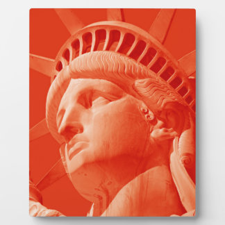 Red Statue of Liberty Plaque