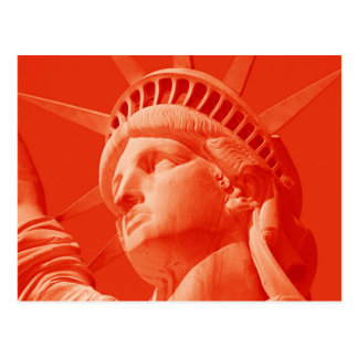 Red Statue of Liberty Postcard