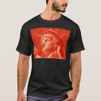 Red Statue of Liberty T-Shirt